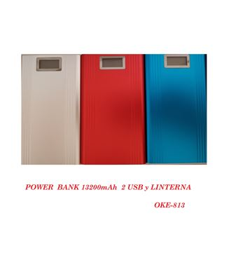 Power Bank 13200mAh con Pantalla 2 Usb OKE-813 - OKE-813
