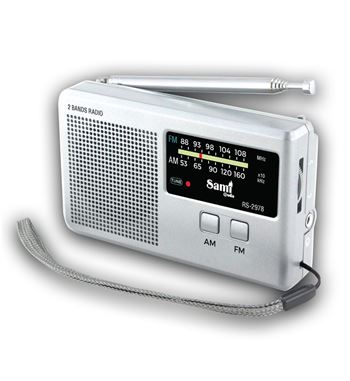 Sami Radio AM/FM a Pilas Mini Horizontal RS-2978 - RS-2978