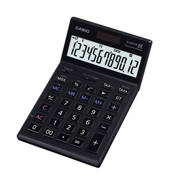 Casio Calculadora 12 Dígitos Display Inclinable JS-120TVS-BK - JS-120TVS-BK_B00