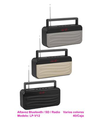 Altavoz Bluetooth SD Radio Digital Mano Libre LP-V12 - LP-V12