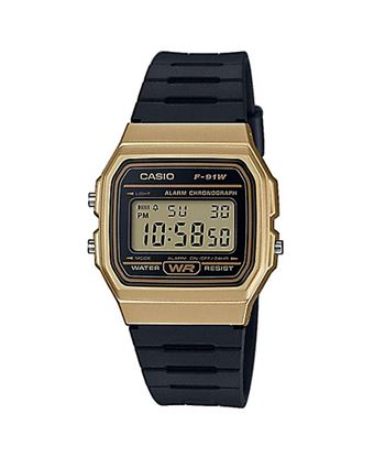 F-91WM-9ADF Casio Digital Dorado C/Correa Negra - F-91WM-9ADF