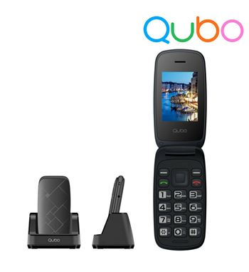 "Qubo Telefono Movil Senior 2.4"" con Tapa C/Base NEO-2 - NEO-2"