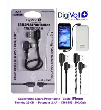 Digivolt Cable IF Usb a Movil IF 25Cm 2.4am CB-8253 - CB-8253