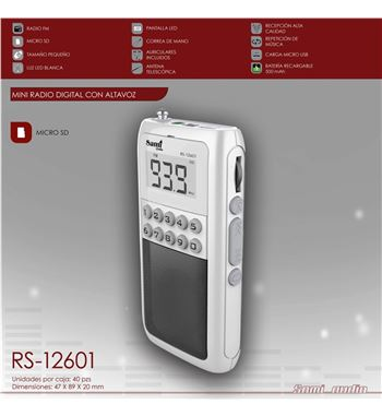 Sami Radio Digital Mini Sd Mp3 Batería RS-12601 - RS-12601