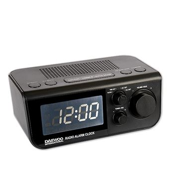 Daewoo Radio Reloj Display Blanco DCR-48 - DCR-48