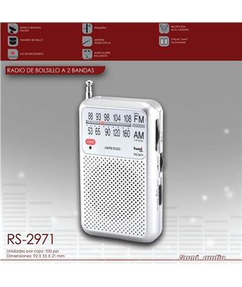 Sami Radio Am/Fm Mini Vertical C/Aur RS-2971 - RS-2971