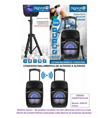 Digivolt Altavoz Trolley Bluetooth Sd/fm 50w SISD-82 - SISD-82