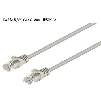 Cable Red Rj-45 Cat 6 Utp M a M 2 mtr WIR613 - WIR613