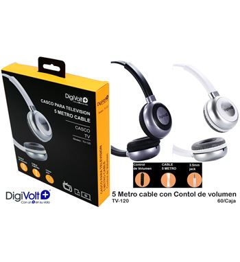 Digivolt Auricular Casco Tv 5mt C/Volumen TV-120 - TV-120