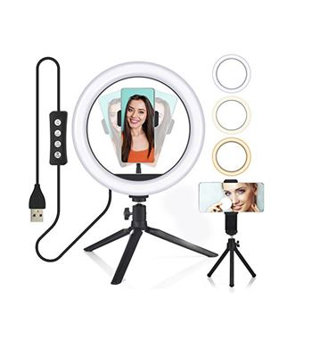 "Digivolt Anillo Led 10"" Regulable para Selfie con Trípode AL-4462 - AL-4462"