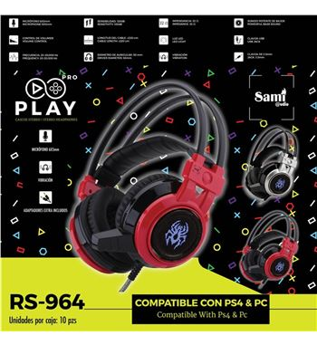 Sami Auriculares Gaming Luz Vibracion Ps4 Usb RS-964 - RS-964