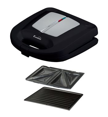 Comelec Sandwichera 2 Placas Grill y Triangular 750w SA-1216 - SA-1216