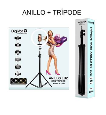 Digivolt Anillo Led Regulable para Selfie con Trípode AL-4464 - AL-4464_B02