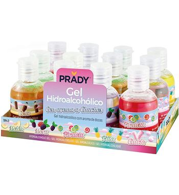 Gel HidroAlcoholico 50ml con Aromas Pack 12 G-50A - GL-50A